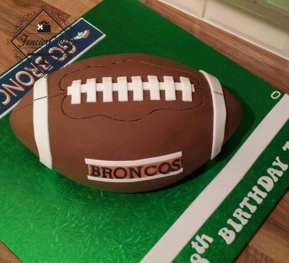 American football birthday cake